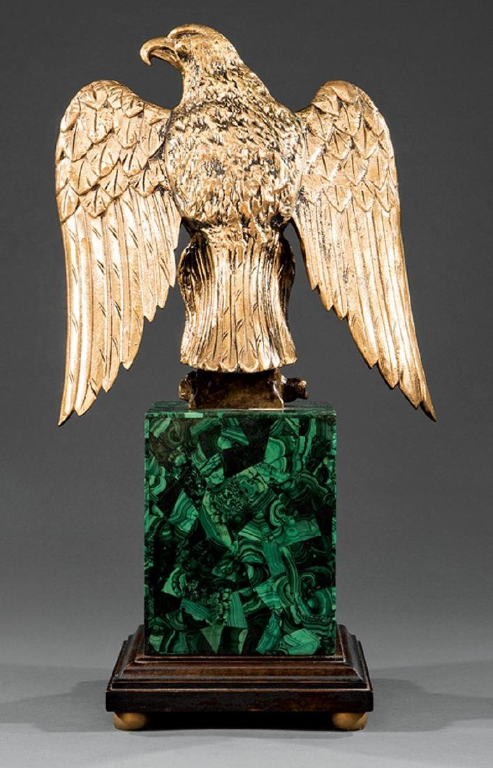Gilt Bronze Figure of a Spreadwing Eagle - 4