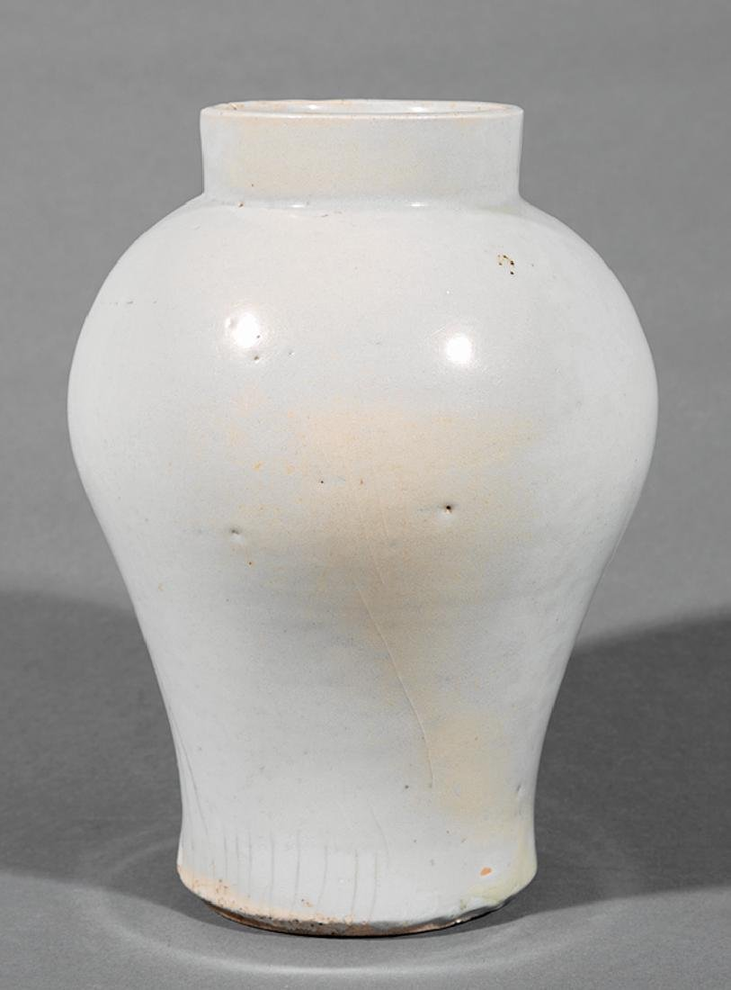 Korean White Glazed Porcelain Vase - 2