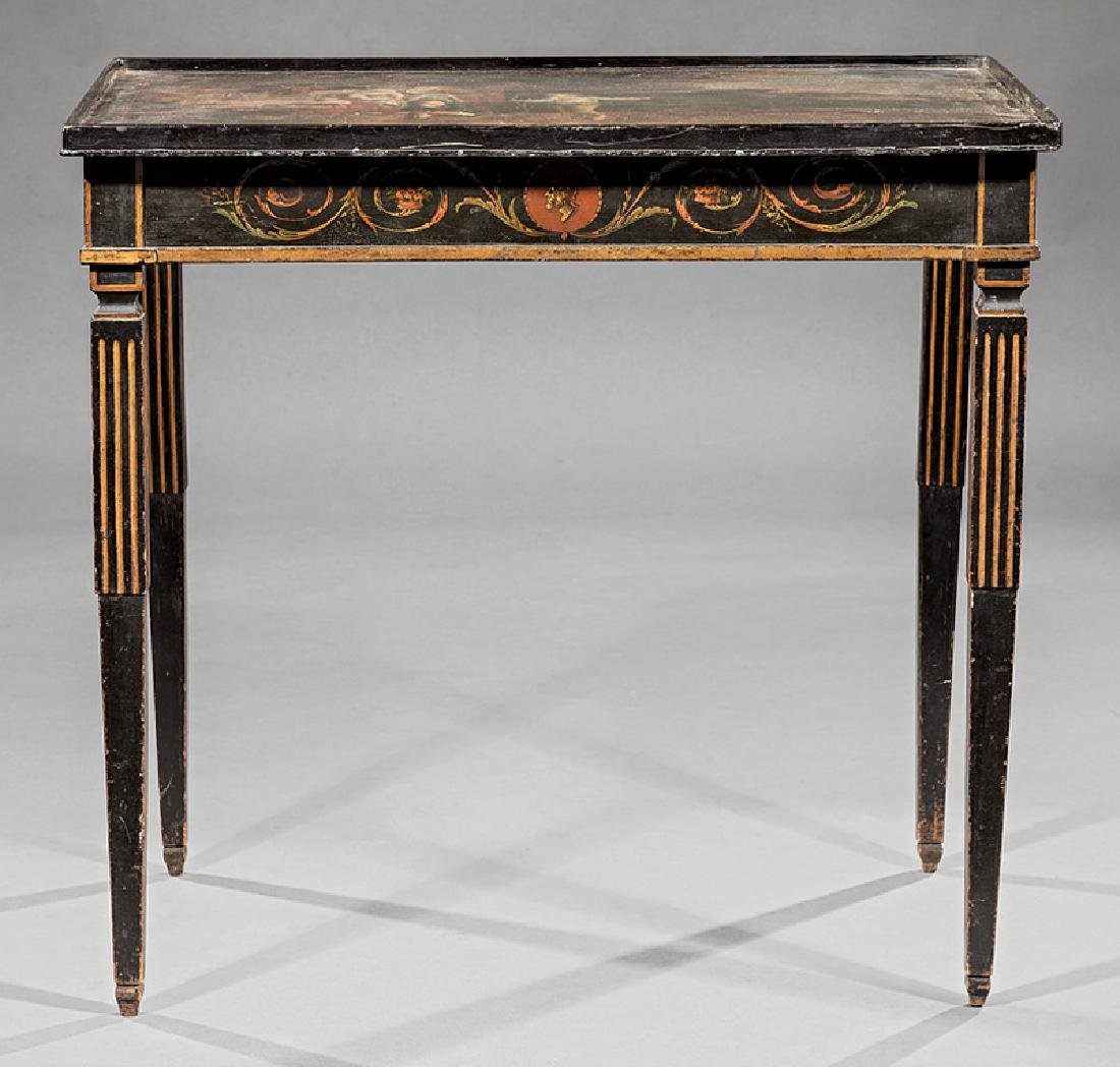 Polychromed and Parcel Gilt Tray Top Table - 2