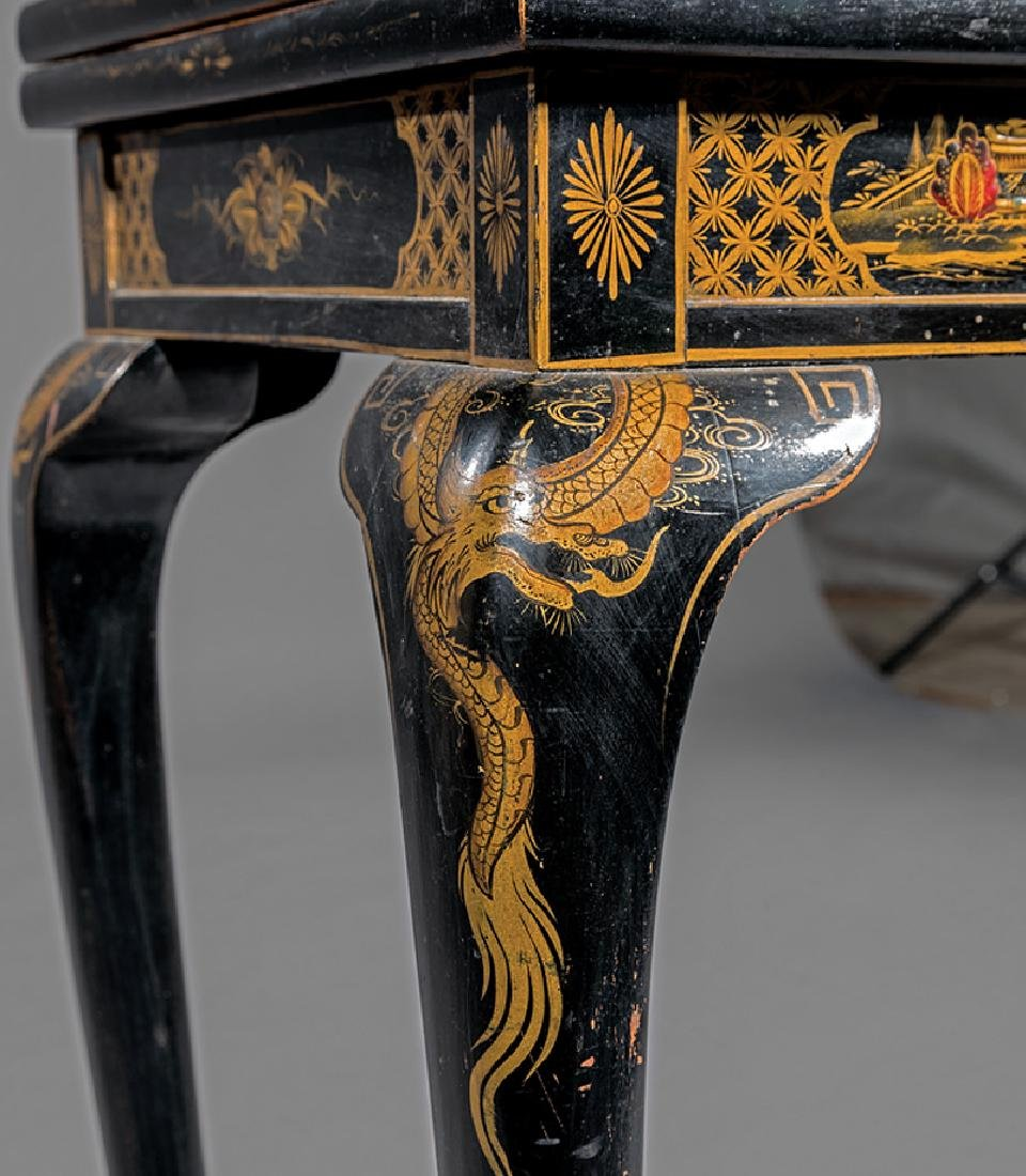 Chinoiserie Lacquered and Gilt Games Table - 4