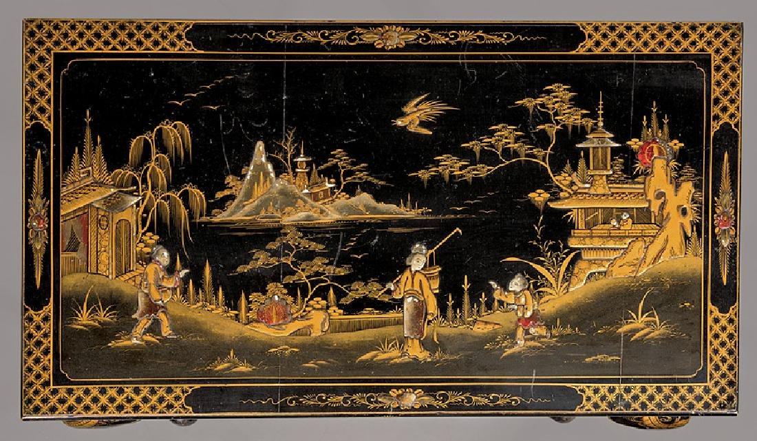 Chinoiserie Lacquered and Gilt Games Table - 6