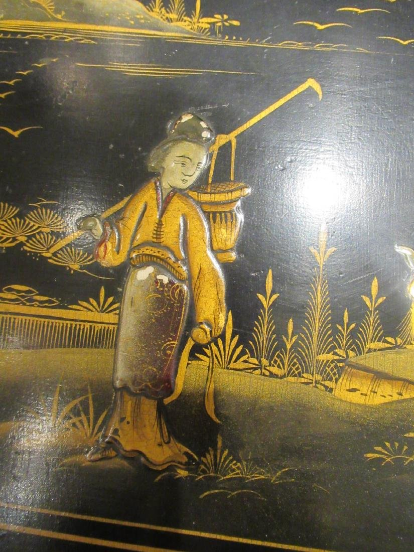 Chinoiserie Lacquered and Gilt Games Table - 7