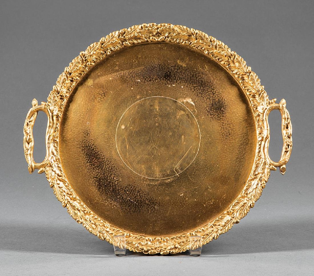 French Gilt Bronze Footed Tray