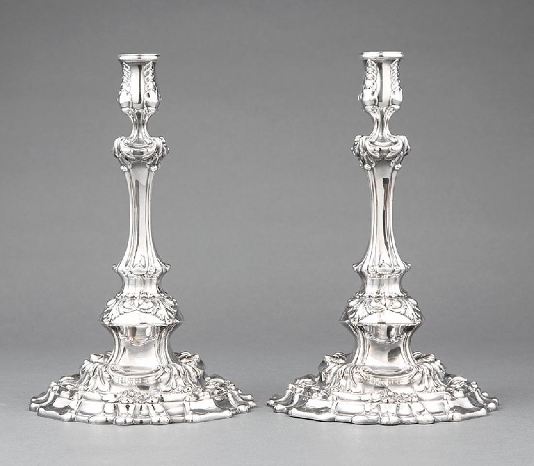 Tiffany & Co. Makers Silverplate Candlesticks