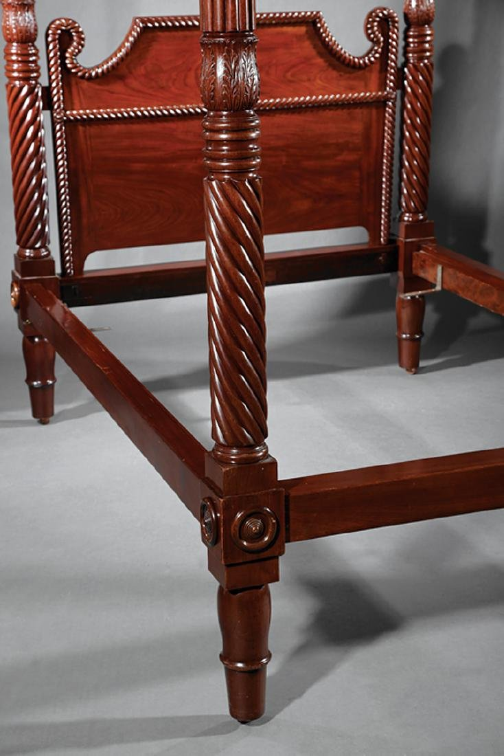 West Indies Carved Mahogany Tall Post Bedstead - 2