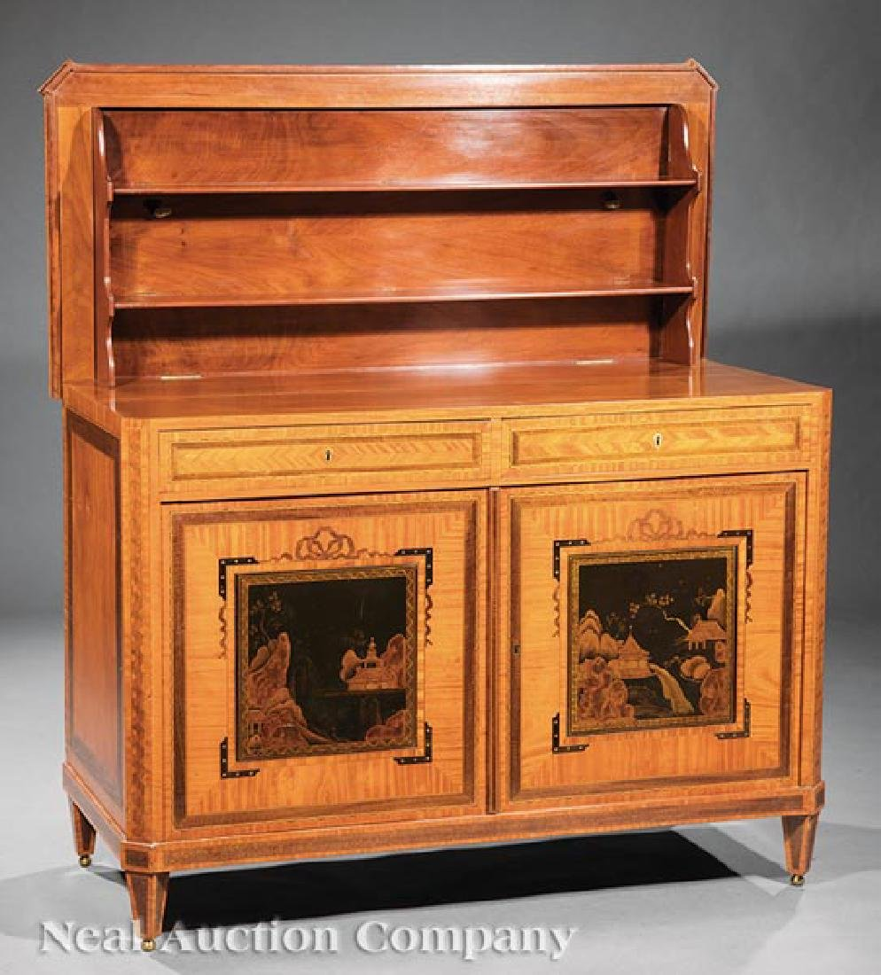 Antique Edwardian Inlaid Satinwood Cabinet - 2