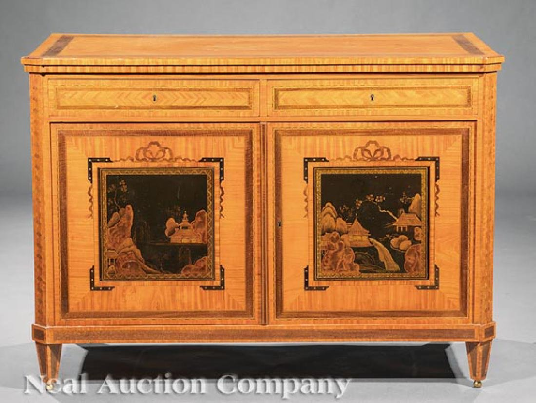 Antique Edwardian Inlaid Satinwood Cabinet - 4