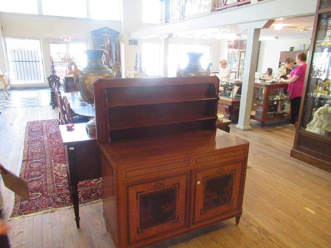 Antique Edwardian Inlaid Satinwood Cabinet - 7