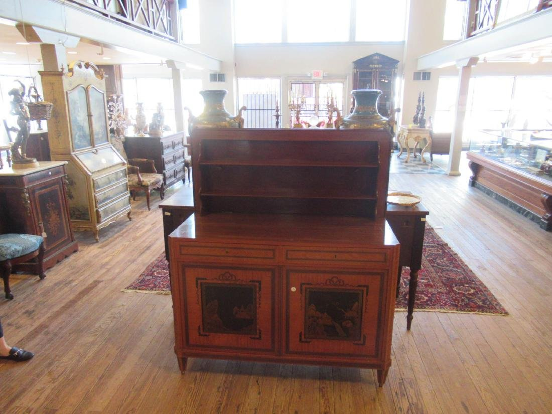 Antique Edwardian Inlaid Satinwood Cabinet - 8