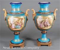Gilt Bronze-Mounted Porcelain Urns