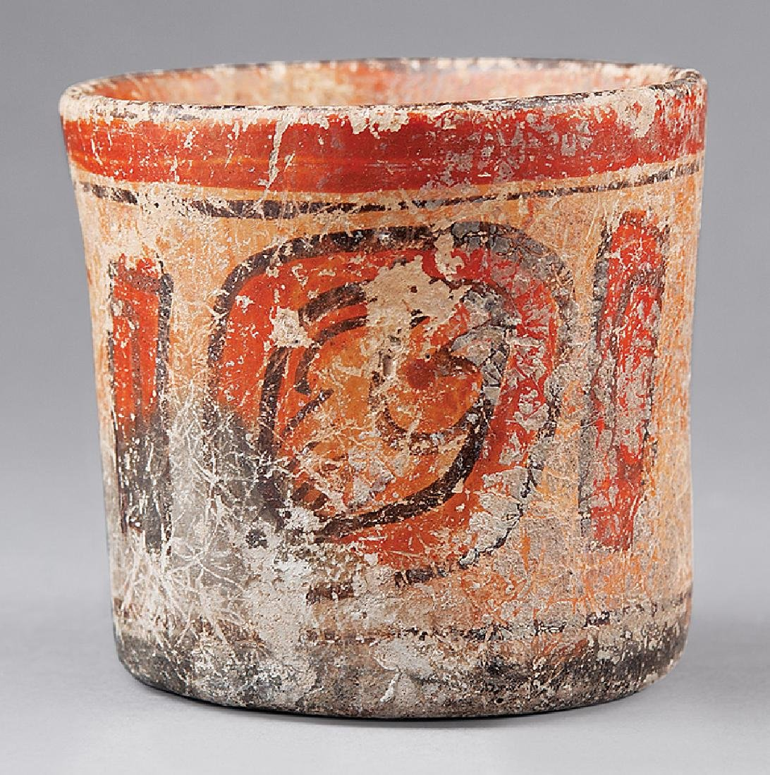 Pre-Columbian Mayan Painted Pottery Vessel