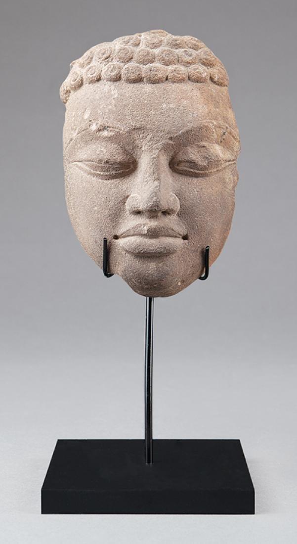 Indian Stone Buddha or Jina Head