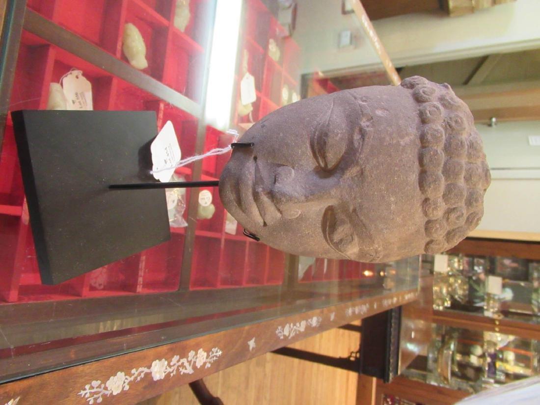 Indian Stone Buddha or Jina Head - 2