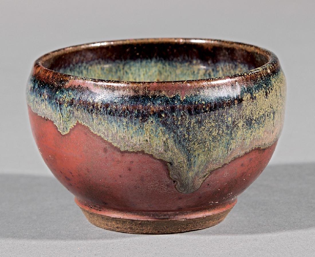 Japanese-Style Glazed Stoneware Teabowl