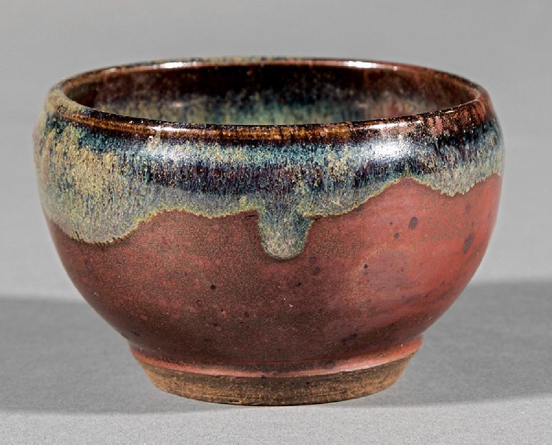 Japanese-Style Glazed Stoneware Teabowl - 2