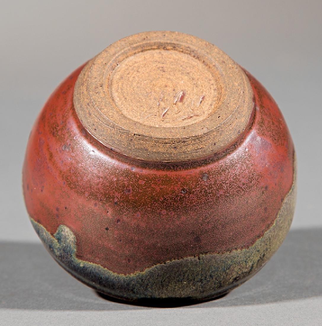 Japanese-Style Glazed Stoneware Teabowl - 3