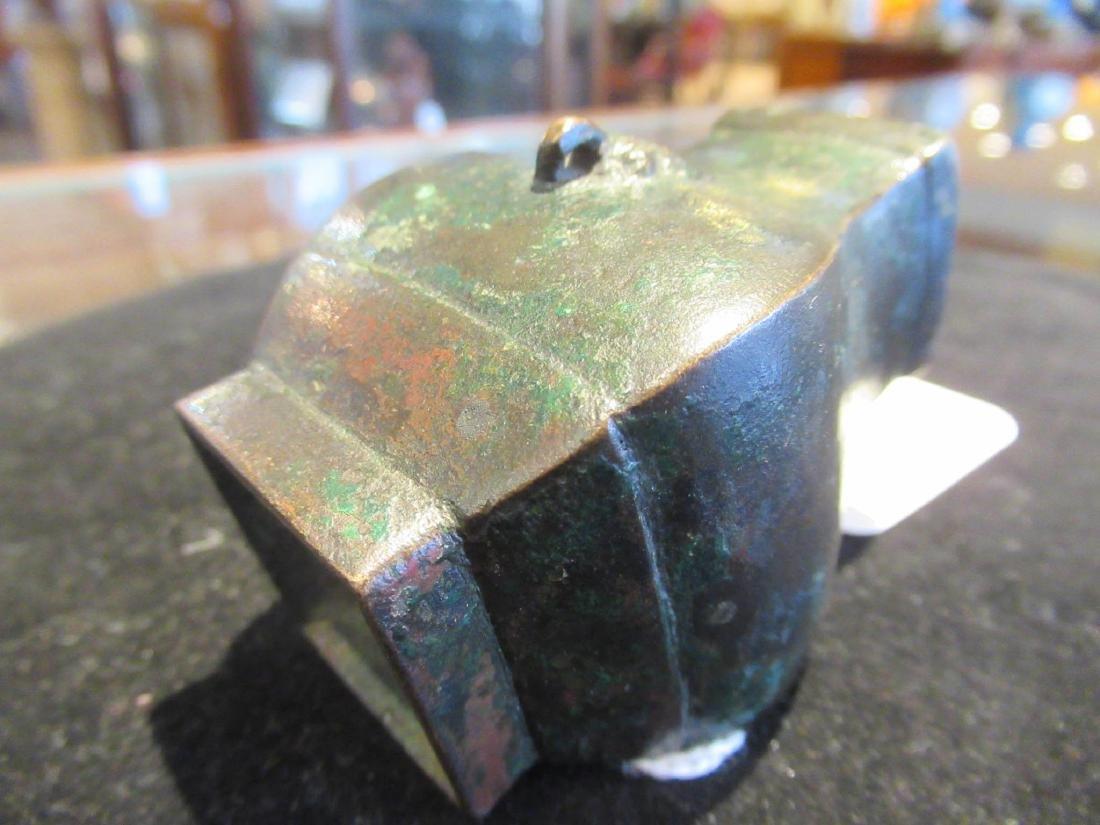 Chinese Bronze Miniature Hu Vase - 5