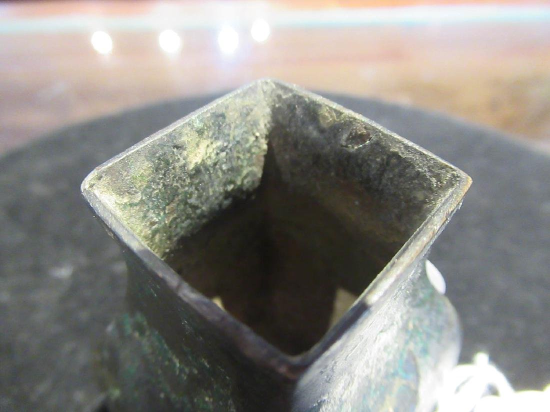 Chinese Bronze Miniature Hu Vase - 6