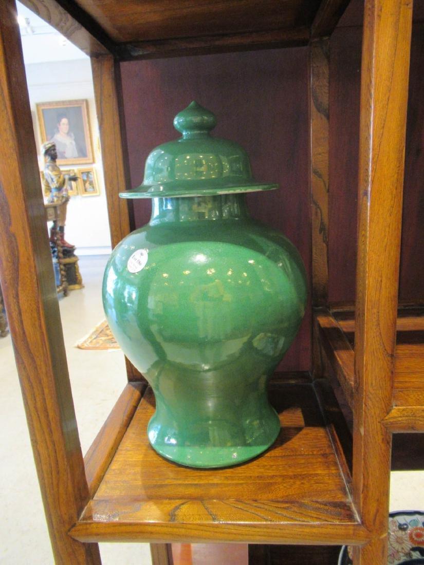 Chinese Green Glazed Porcelain Baluster Vase - 2
