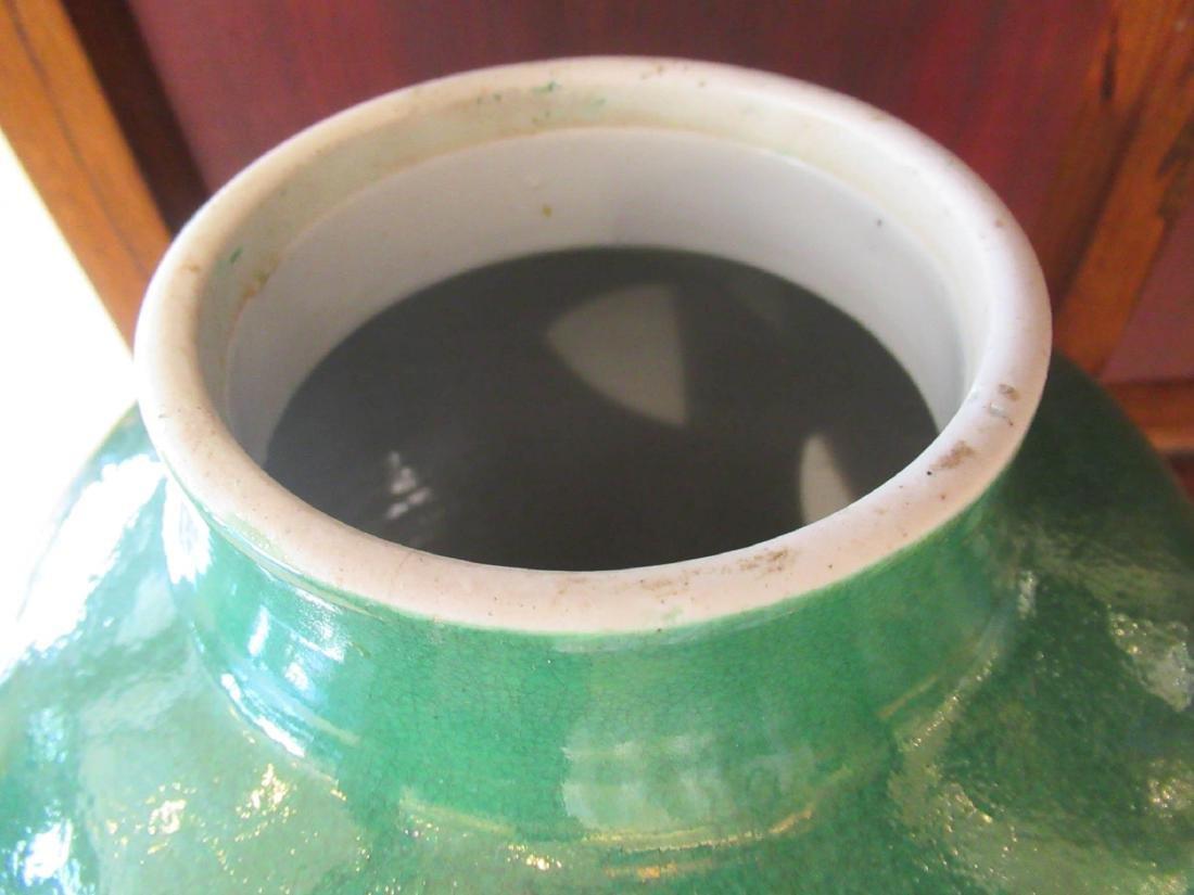 Chinese Green Glazed Porcelain Baluster Vase - 6
