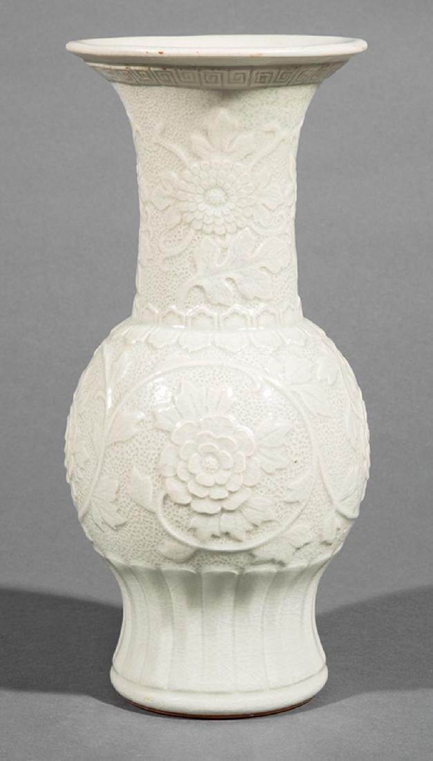 Chinese Celadon Glazed Porcelain Baluster Vase