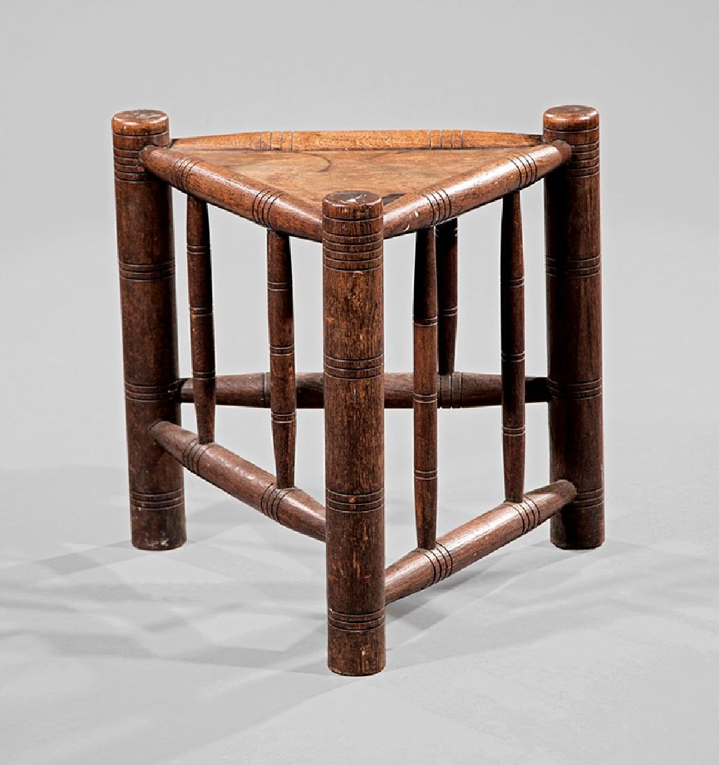 Arts and Crafts Oak Joint Stool