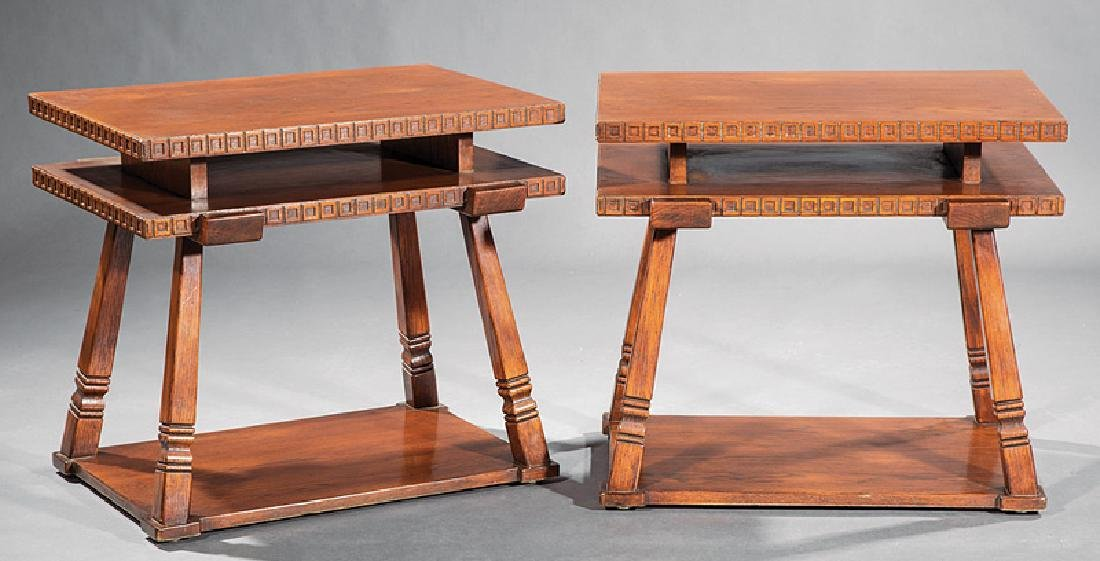 Pair of Arts and Crafts Oak Side Tables