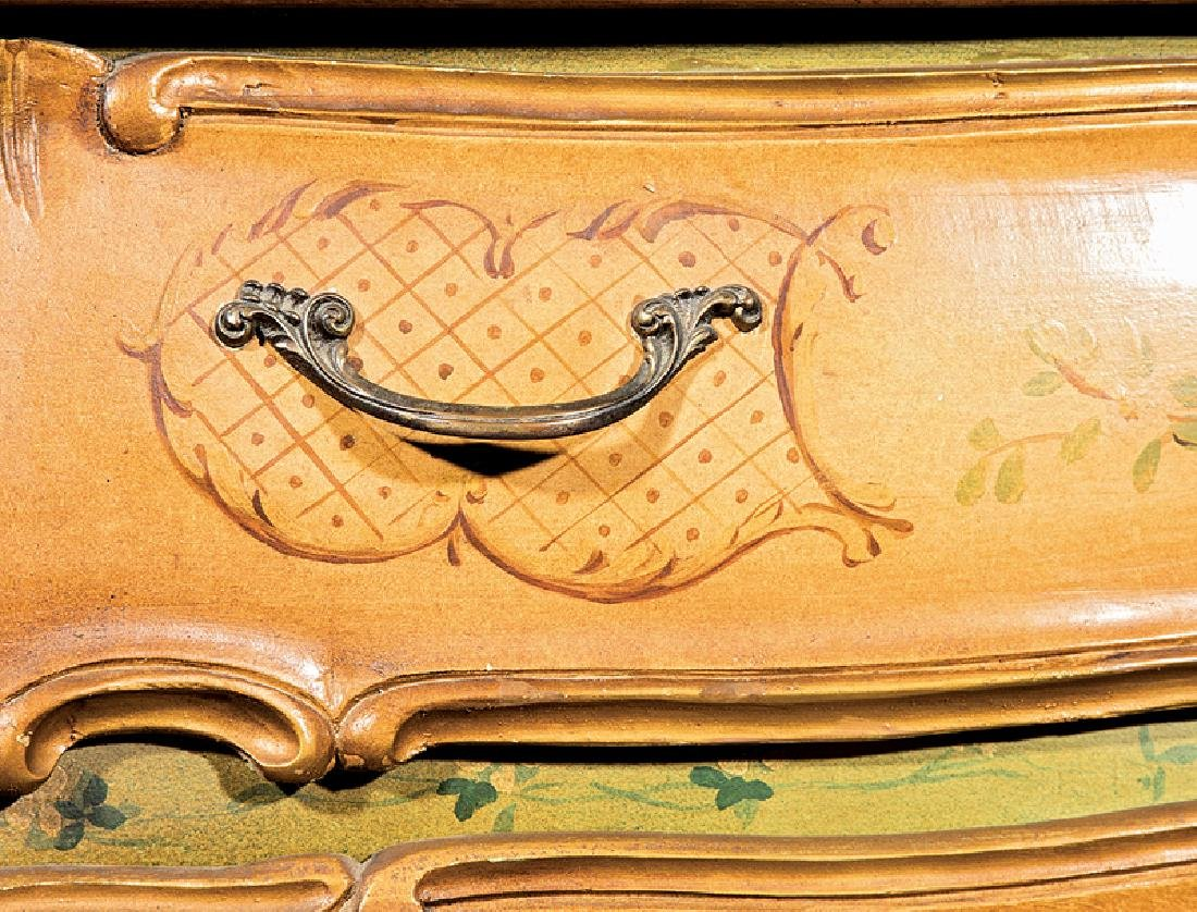 Venetian Carved and Painted Bombé Commode - 4