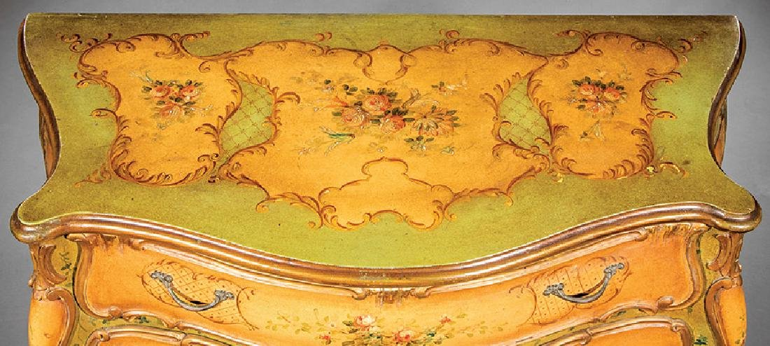 Venetian Carved and Painted Bombé Commode - 6
