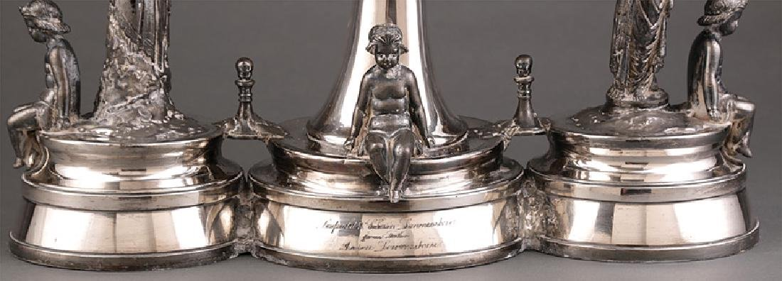 Victorian Silverplate Figural Centerpiece - 2