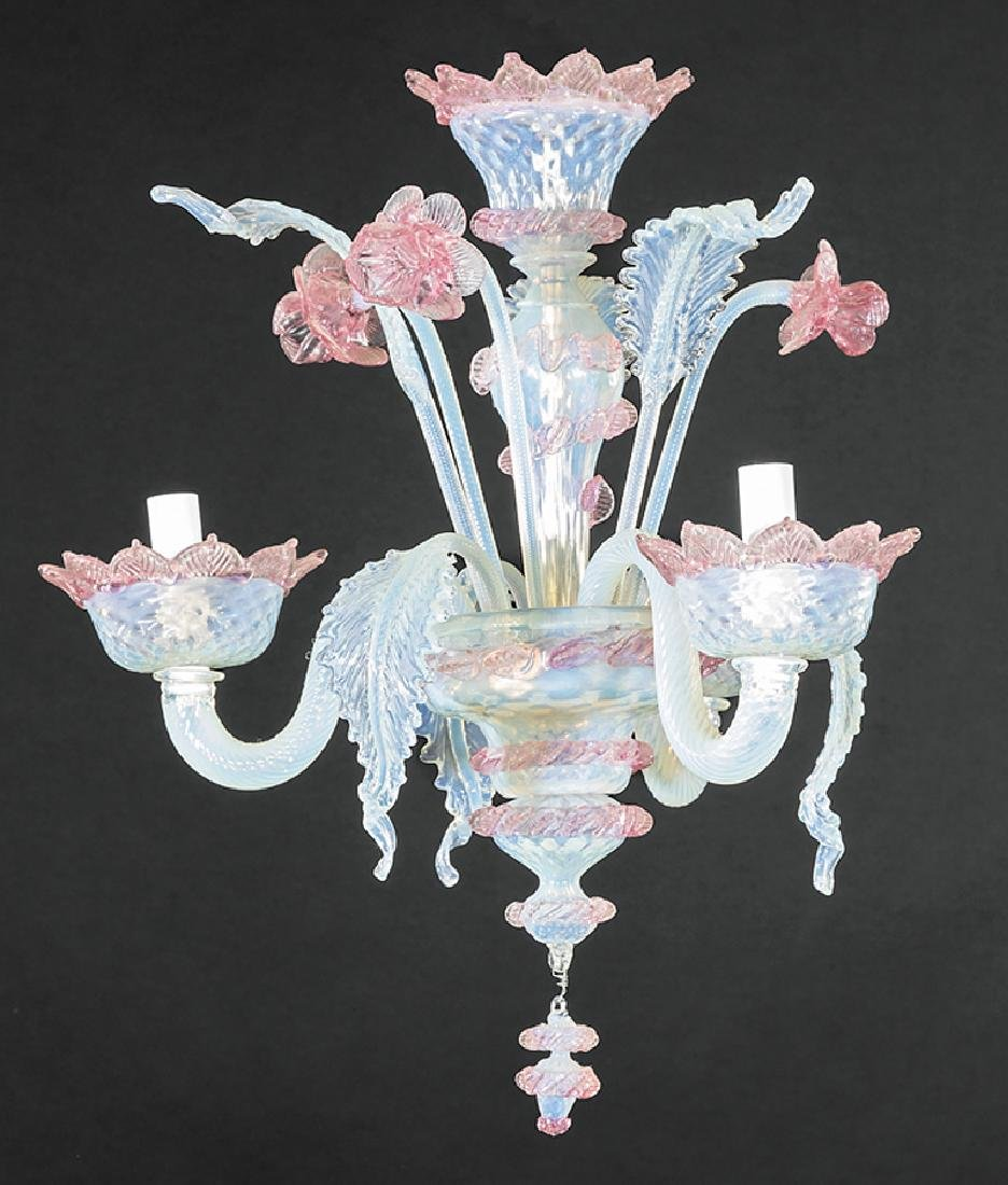 Diminutive Murano Glass Three-Light Chandelier