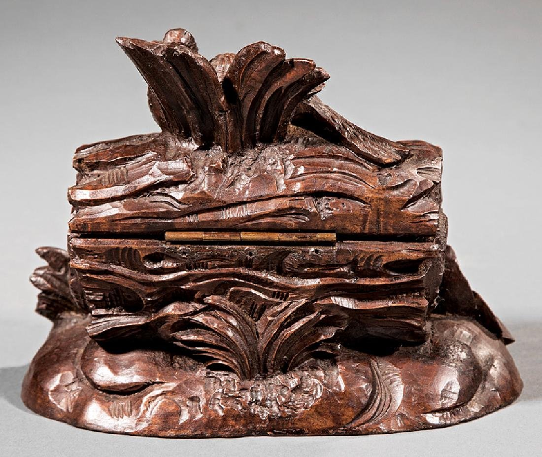 Black Forest Carved Walnut Box - 2