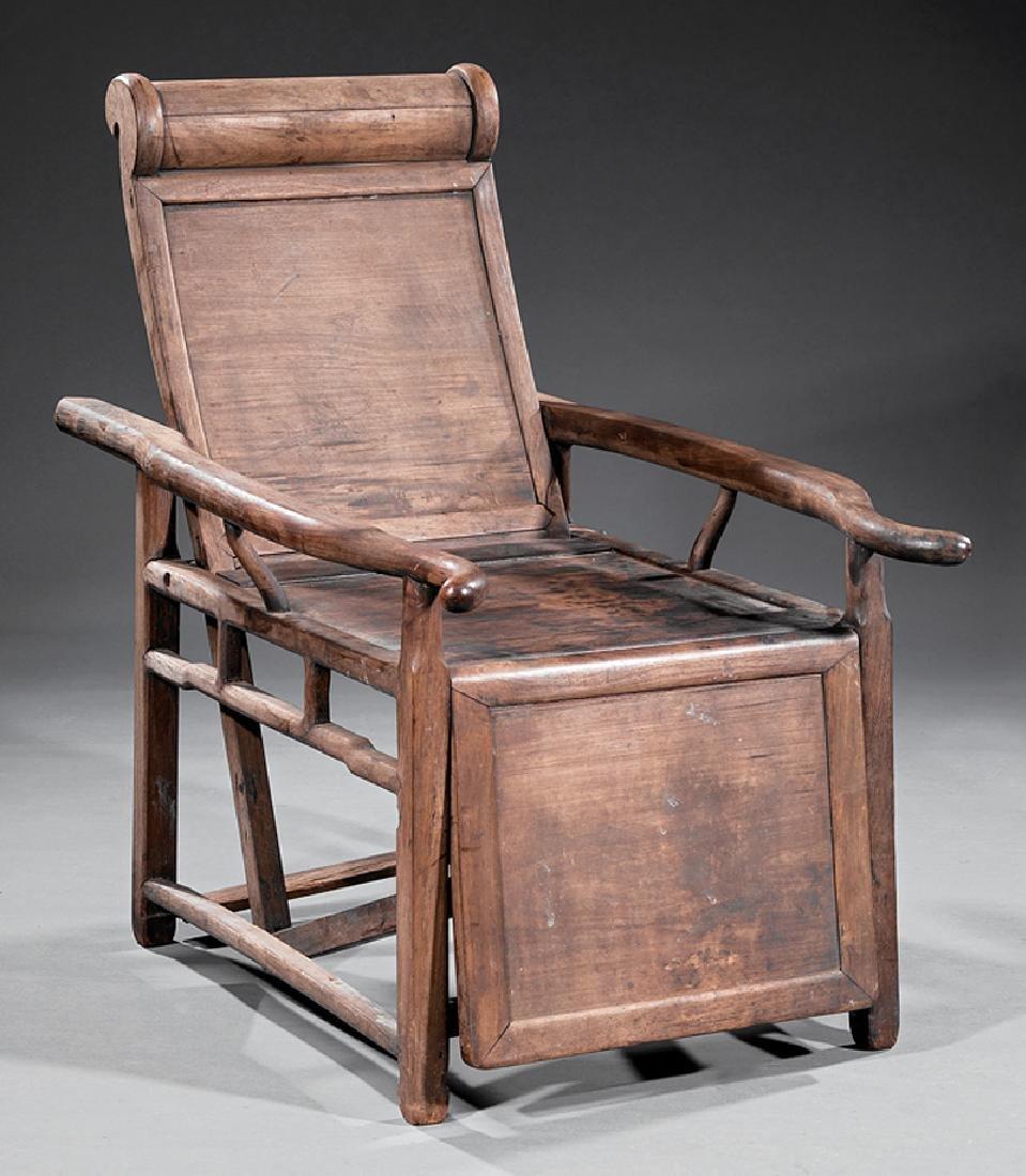 Chinese Hardwood Reclining Sedan Chair