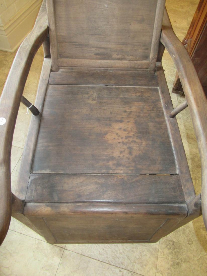 Chinese Hardwood Reclining Sedan Chair - 5