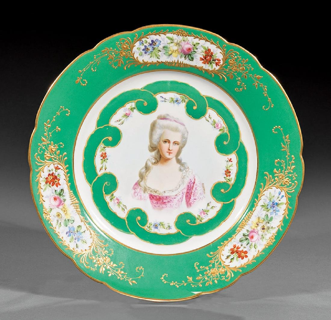 Sevres-Style Polychrome Porcelain Plates - 2