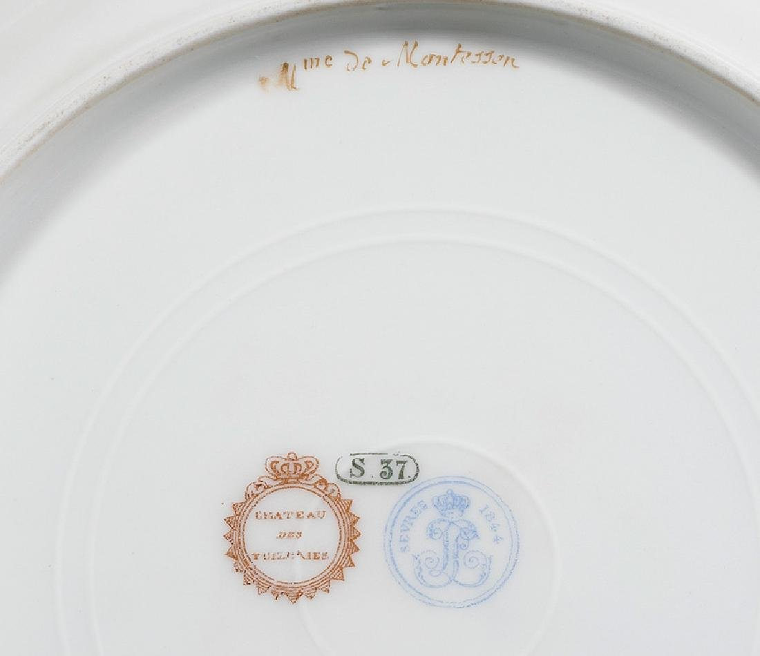 Sevres-Style Polychrome Porcelain Plates - 3