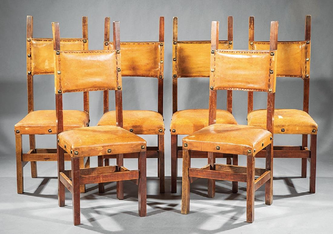 Six Spanish Colonial-Style Side Chairs
