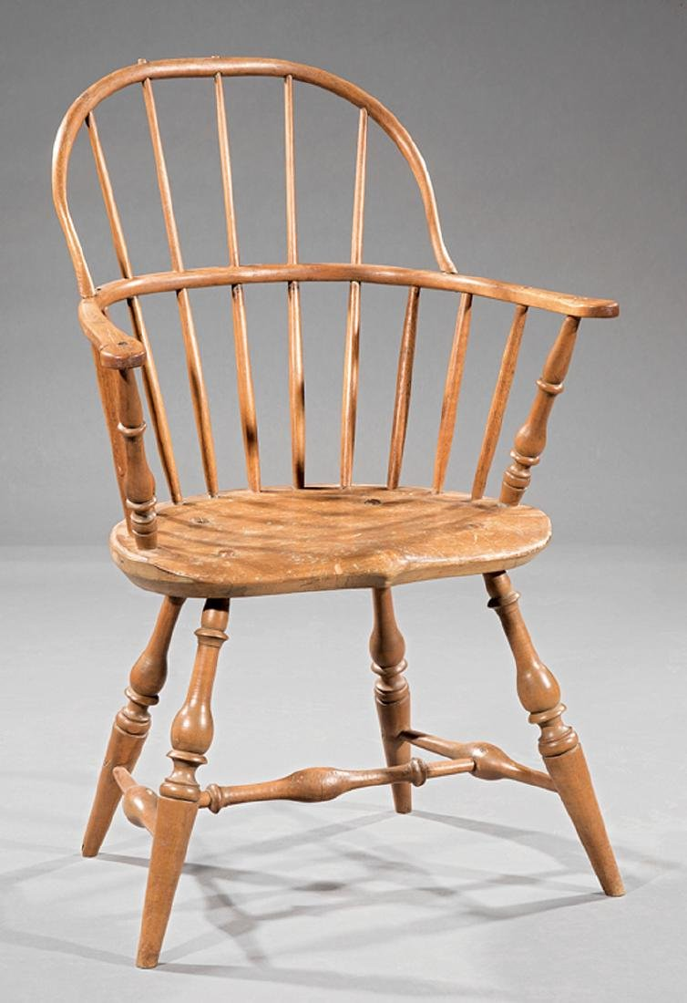 Federal Carved Maple Hoopback Windsor Chair