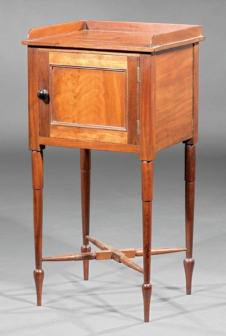 American Federal Walnut Pot Commode