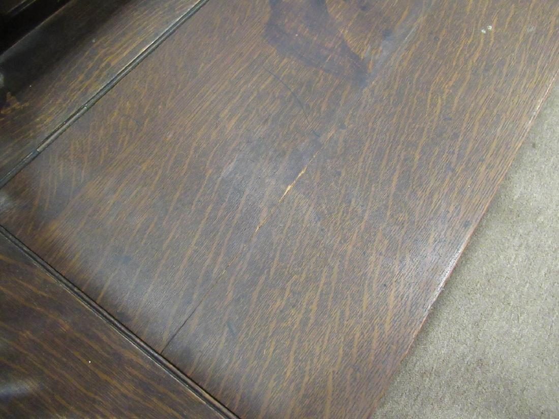 American Carved Oak Bench - 8