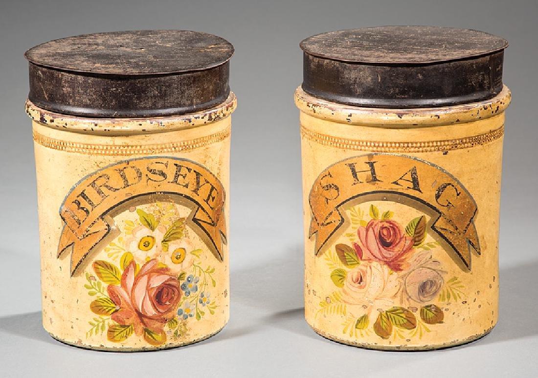 Two English Salt Glazed Tobacco Jars