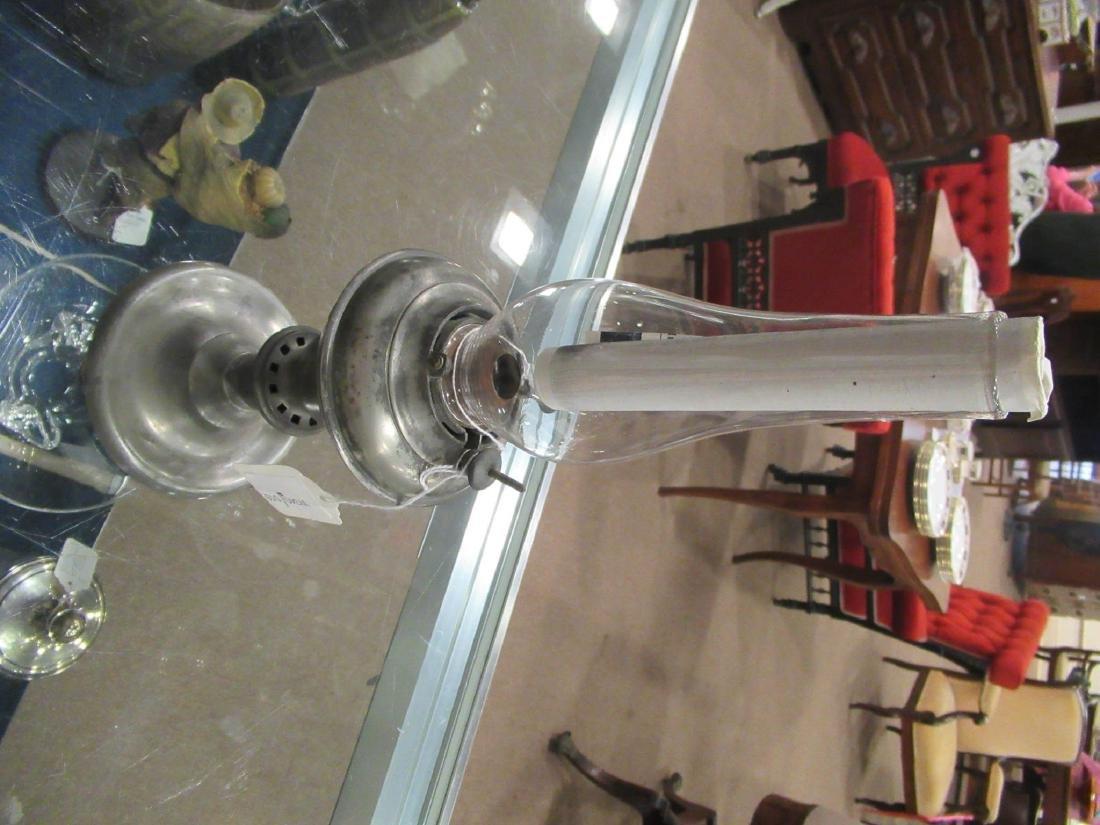 Pewter Kerosene Lamp, Endicott and Sumner - 2
