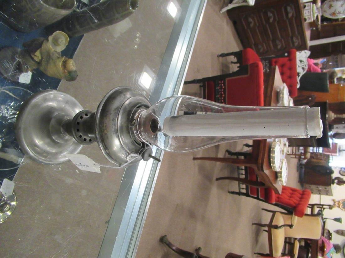 Pewter Kerosene Lamp, Endicott and Sumner - 3