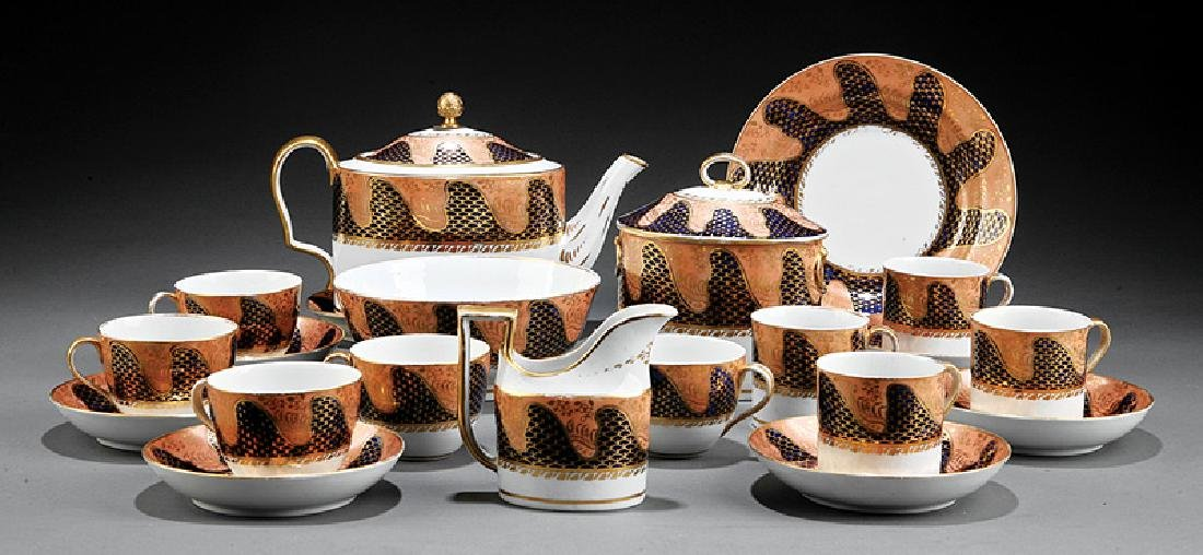 English Porcelain Partial Tea Service