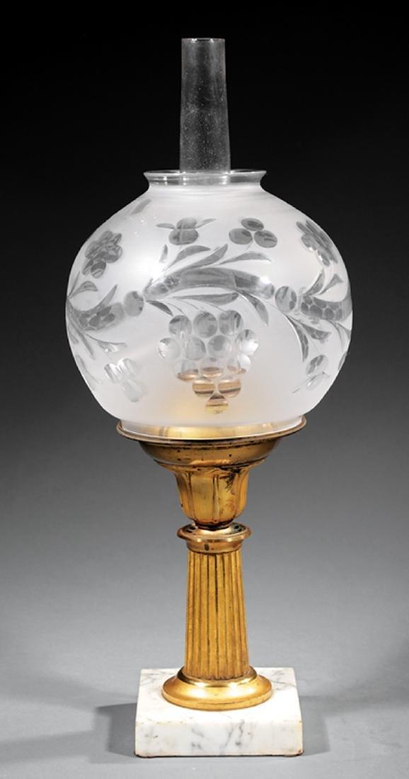 American Gilt Bronze Solar Lamp