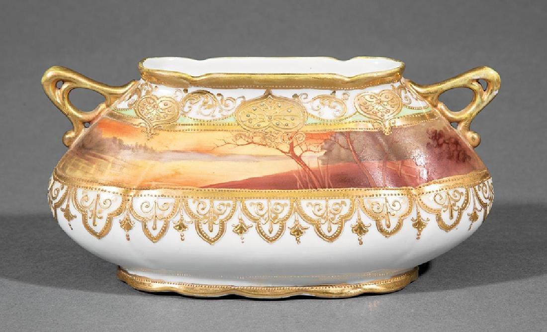 Japanese Noritake Polychrome Porcelain Vase