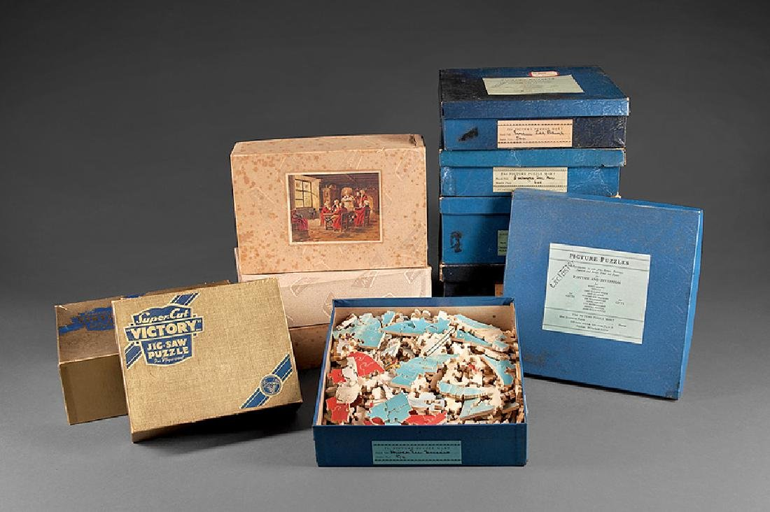 Eleven Vintage Wood Jigsaw Puzzles