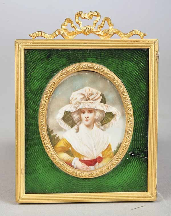 0005: French Oval Miniature Portrait on Ivory
