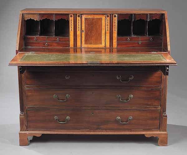 0014: George III Walnut Slant Front Desk