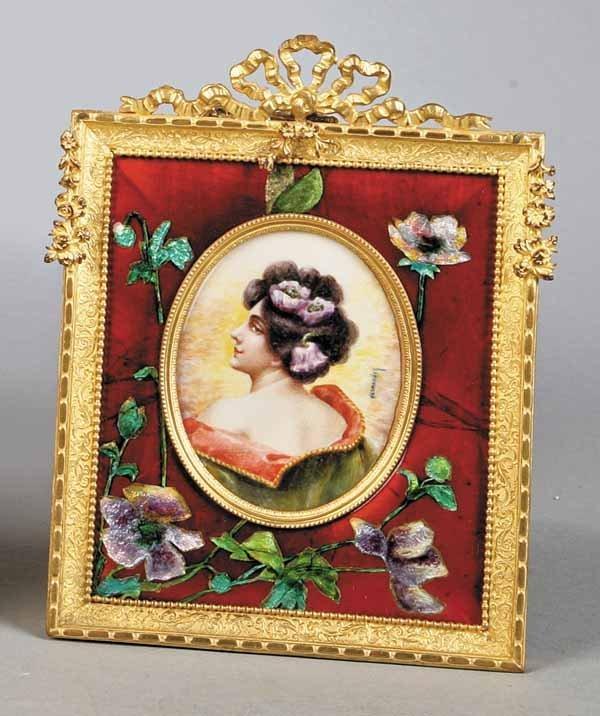 0022: Oval Continental Ivory Portrait Miniature